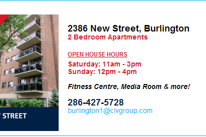 Burlington Open House Hours   August