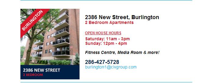 Burlington Open House Hours   August