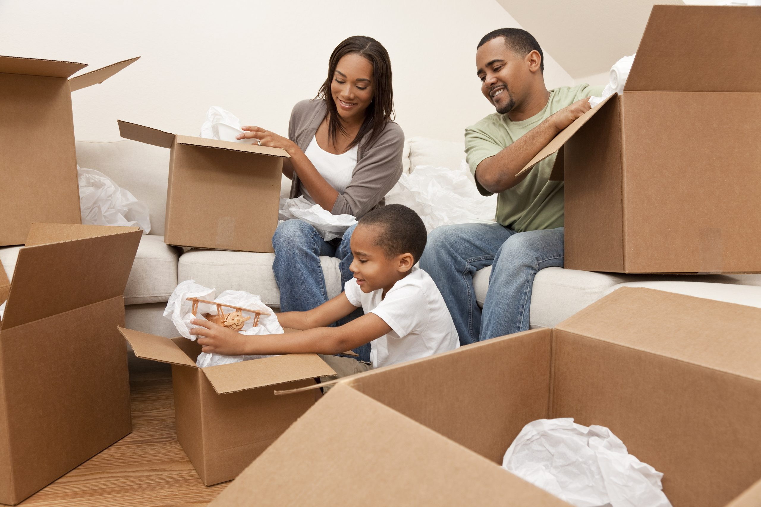 Start with your furniture and then organize your boxes so that you can keep track of where everything is.